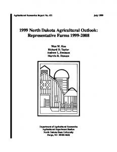 1999 North Dakota Agricultural Outlook ... - AgEcon Search