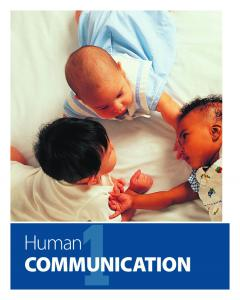 1Human CommuniCation - Pearson Education