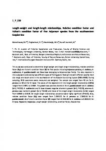 1_P_210 Length-weight and length-length ...