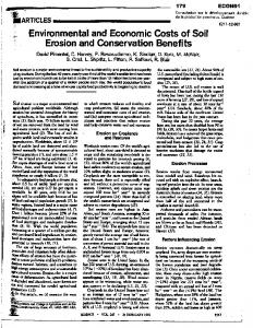 2~. Environmental and Economic Costs of Soil i