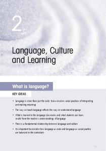 2. Language, culture and learning