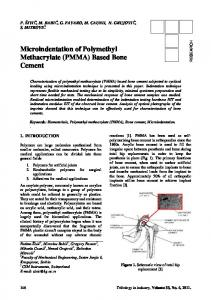 2. Microindentation of Polymethyl Methacrylate ... - Tribology in Industry