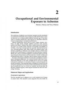 2 Occupational and Environmental Exposure to Asbestos