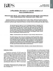 2-Phenitidine derivatives as suitable inhibitors of ... - Scielo.br