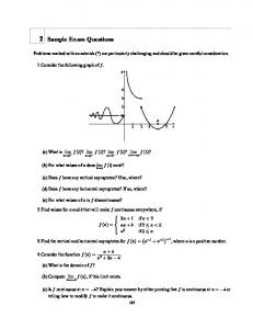 2 Sample Exam Questions