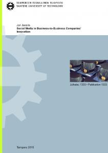 2 social media in business-to-business innovation ...