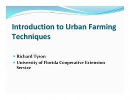 2.) Urban Farming Techniques - Orange County Extension ...