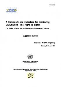 2. VISION 2020 INDICATORS FOR HUMAN RESOURCES