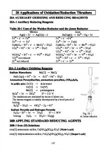 20 Applications of Oxidation/Reduction Titrations