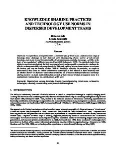 2000: knowledge sharing practices and ... - Semantic Scholar