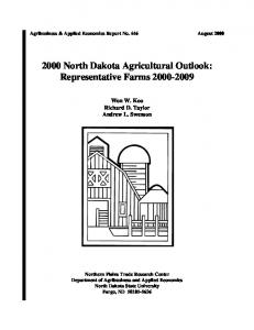 2000 North Dakota Agricultural Outlook ... - AgEcon Search
