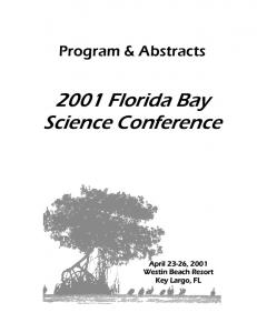 2001 Florida Bay Science Conference