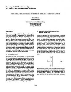 2001: using simulation and neural networks to ... - Semantic Scholar