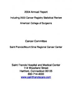 2004 Annual Report Cancer Committee Saint Francis ...