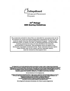 2004 AP Art History Scoring Guidelines - AP Central - The College ...