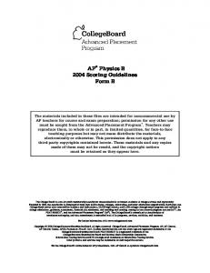 1999 AP Physics B Scoring Guidelines - MAFIADOC.COM