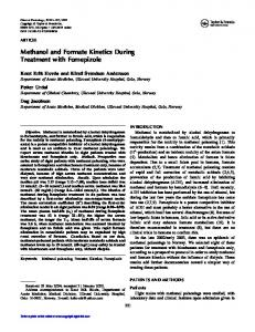 2005-Methanol and formate kinetics-Clin Tox