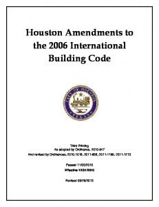 2006 Houston Building Code Chapter 1