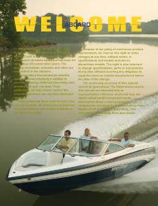 2006 MasterCraft Owners Manual