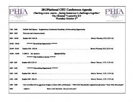 2006 PHIA Roundtable Conference Agenda