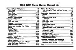 2006 Sierra Owners Manual