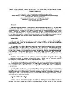 2007: oxidation kinetic study of acetylene soot and two commercial
