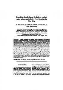 (2007): Use of the Sterile Insect Techniques against ... - Project LOVCEN