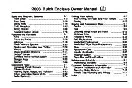 2008 Buick Enclave Owner Manual
