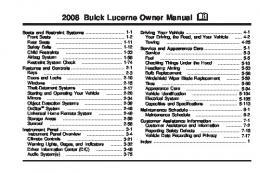 2008 Buick Lucerne Owner Manual