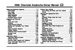 2008 Chevrolet Avalanche Owner Manual