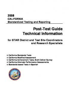 2008 STAR Post-Test Guide - STAR Test