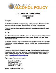 2010 Essay Contest Rules