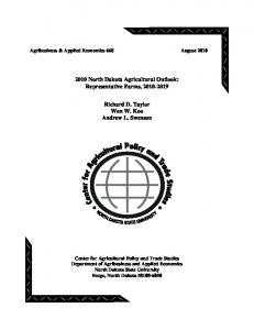 2010 North Dakota Agricultural Outlook ... - AgEcon Search