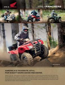 2010 RANCHERS - Honda Powersports