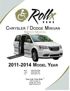 2011-2014 Chrysler Minivan Service Manual (13315-004).indd