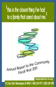 2011 Annual Report - Stepping Stones