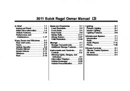 2011 Buick Regal Owner Manual