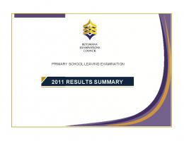 2011 RESULTS SUMMARY - BEC