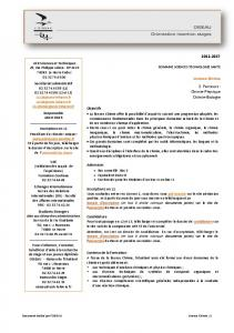 2012-2017 Licence Chimie 2 Parcours : Chimie-Physique Chimie ...