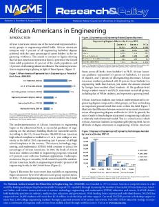 2012 African Americans in Engineering