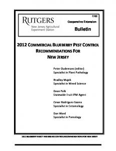2012 Commercial Blueberry Pest Control Recommendations for ...