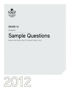 2012 Grade 12 Sample Questions for Economics