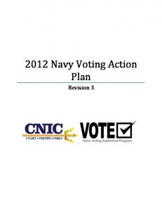2012 Navy Voting Action Plan