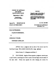 2012AP2140 State v. Nelson - Wisconsin Court System