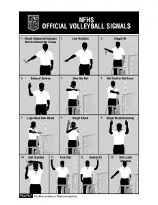 2013-14 Volleyball Official Signals