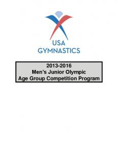 2013-2016 Men's Junior Olympic Age Group Competition ... - naigc