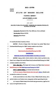 2013 -- H 5750 STATE OF RHODE ISLAND
