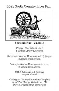 2013 North Country Fiber Fair