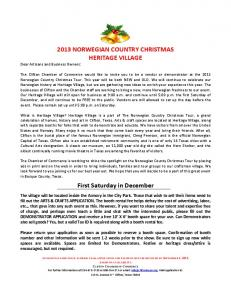 2013 NORWEGIAN COUNTRY CHRISTMAS HERITAGE VILLAGE ...