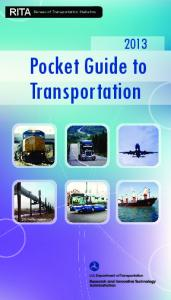 2013 Pocket Guide To Transportation - Research and Innovative ...